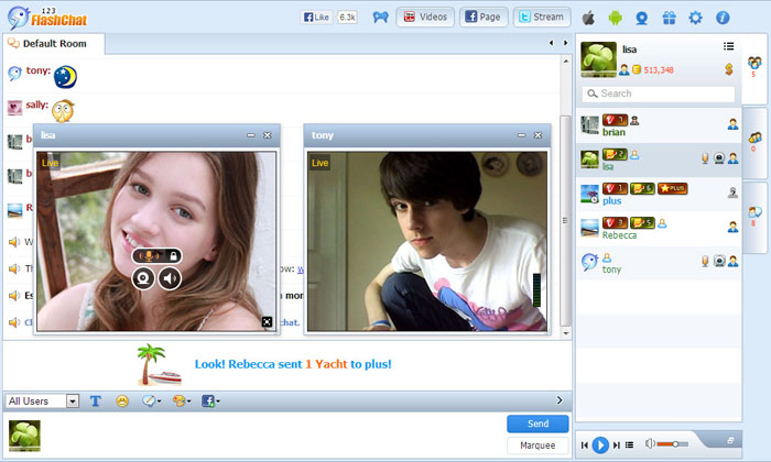 Online video chat com