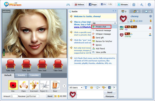 Private chat rooms online